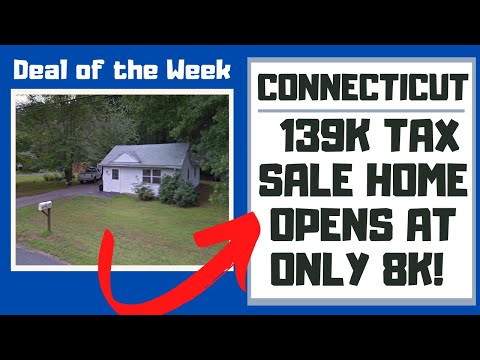 CONNECTICUT TAX SALE REVIEW! $139,000 WINDSOR HOME OPENS AT 8K