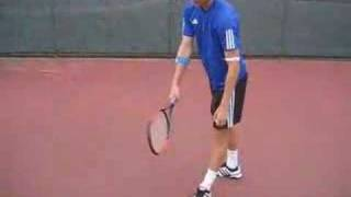 How to perform a tennis serve