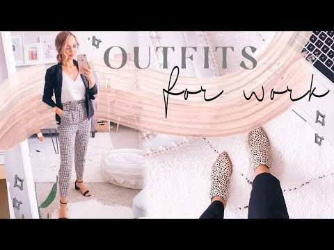 OUTFITS OF THE WEEK FOR WORK | Business Casual​ Outfit Ideas! ✨