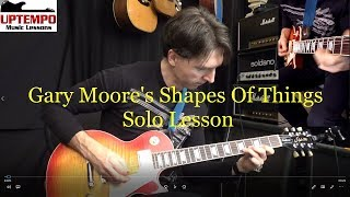 Shapes Of Things Guitar Solo Lesson (Gary Moore)