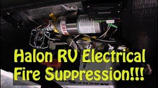 Halon RV Electrical Fire Suppression