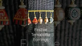 Festive Terracotta Earrings! #youtubeshorts #shorts #terracottajewellery #paintedearthbyneha