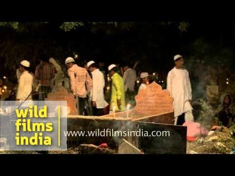 Muslims devotees celebrating Shab-e-barat - Delhi