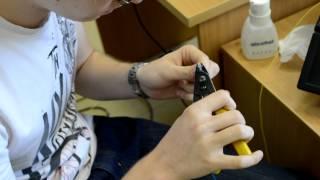 сварка оптоволокна(Шурик варит оптику., 2012-08-05T11:11:49.000Z)