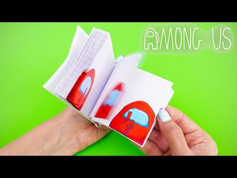 AMONG US FLIPBOOK MAKING | FUNNY DRAWING AND GAMES DIY 🎮