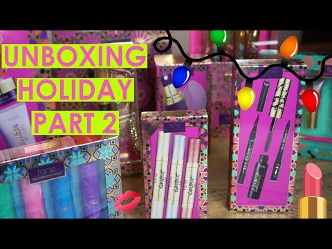 holiday unboxing with Jen part 2! | tarte talk