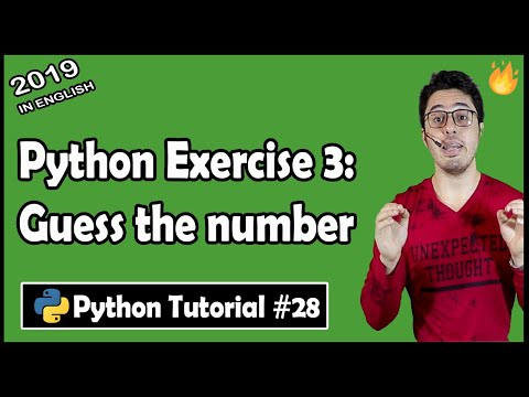 Guess the number: Python Exercise 3 | Python Tutorial #28 thumbnail