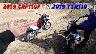 2019 CRF110 VS. TTR110!