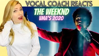 Vocal Coach/Musician Reacts: THE WEEKND 'Blinding Lights' Live VMA's 2020
