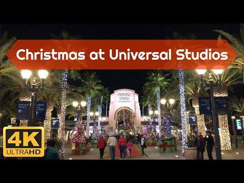 Christmas at Universal Studios Hollywood in 4K! December 2017