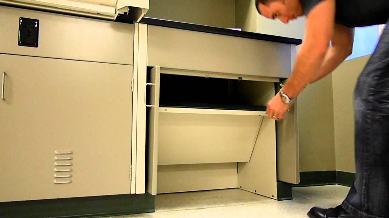 Convertible ADA Compliant Laboratory Sink Cabinet - YouTube