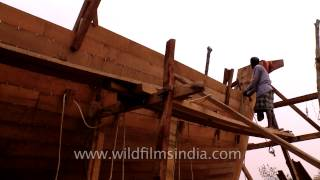 Building A Wooden Boat In India
