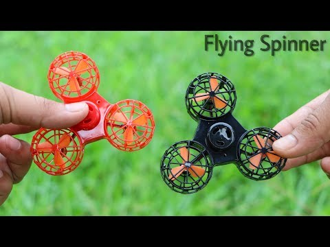 FLYING FIDGET SPINNER Unboxing And Flying Test - You Can Fly This Fidget Spinner Drone