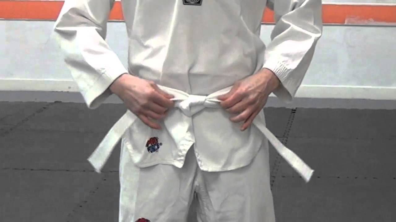 How to taekwondo wear white belt fotos