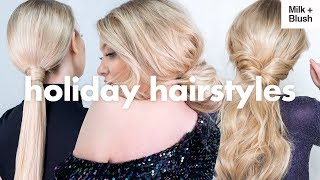 Day to Night Holiday Hairstyles | Milk + Blush Hair Extensions