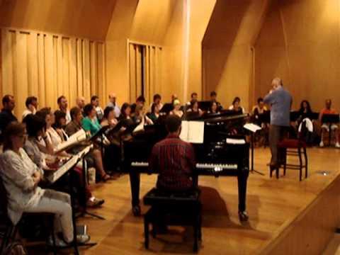 Assaig del Cor de Cambra del Palau de la Música Catalana al Petit Palau
