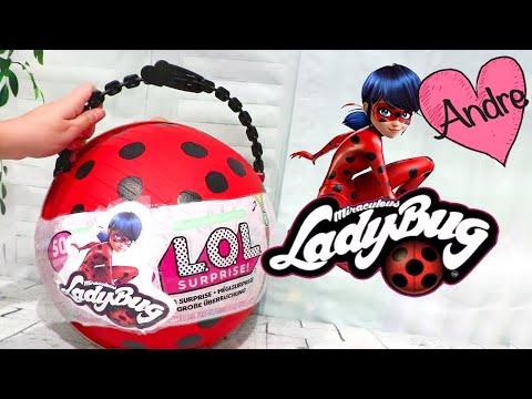 Prodigiosa Ladybug LOL Big Surprise con muñecas lol y otras sorpresas - Juguetes con Andre