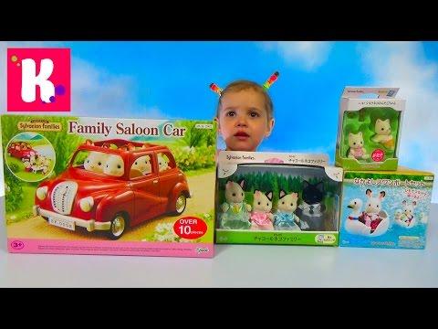 Видео, Кошечки Сильваниан Фэмилис  Распаковка машинки Обзор игрушек Sylvanian Families