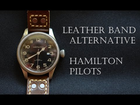 New strap for the Hamilton vintage inspired pilot!
