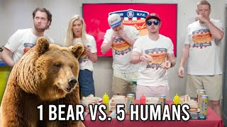 Barstool Sports Vs. A Bear In A Hot Dog Eating Contest