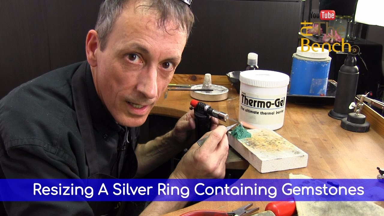 resizing a silver ring containing gemstones using thermo. Black Bedroom Furniture Sets. Home Design Ideas