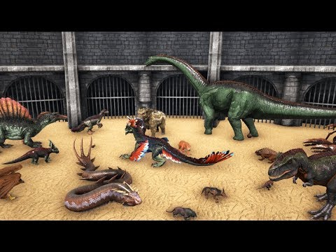ARK FREE FOR ALL BATTLE - Including ALL ABERRATION & SCORCHED & THEISLAND Creatures! || Cantex