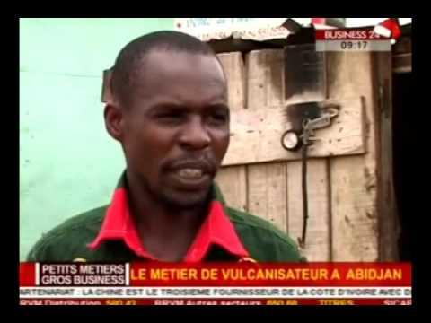 Business 24 / Petit Metiers - Gros Business : Le metier de vulcanisateur a Abidjan