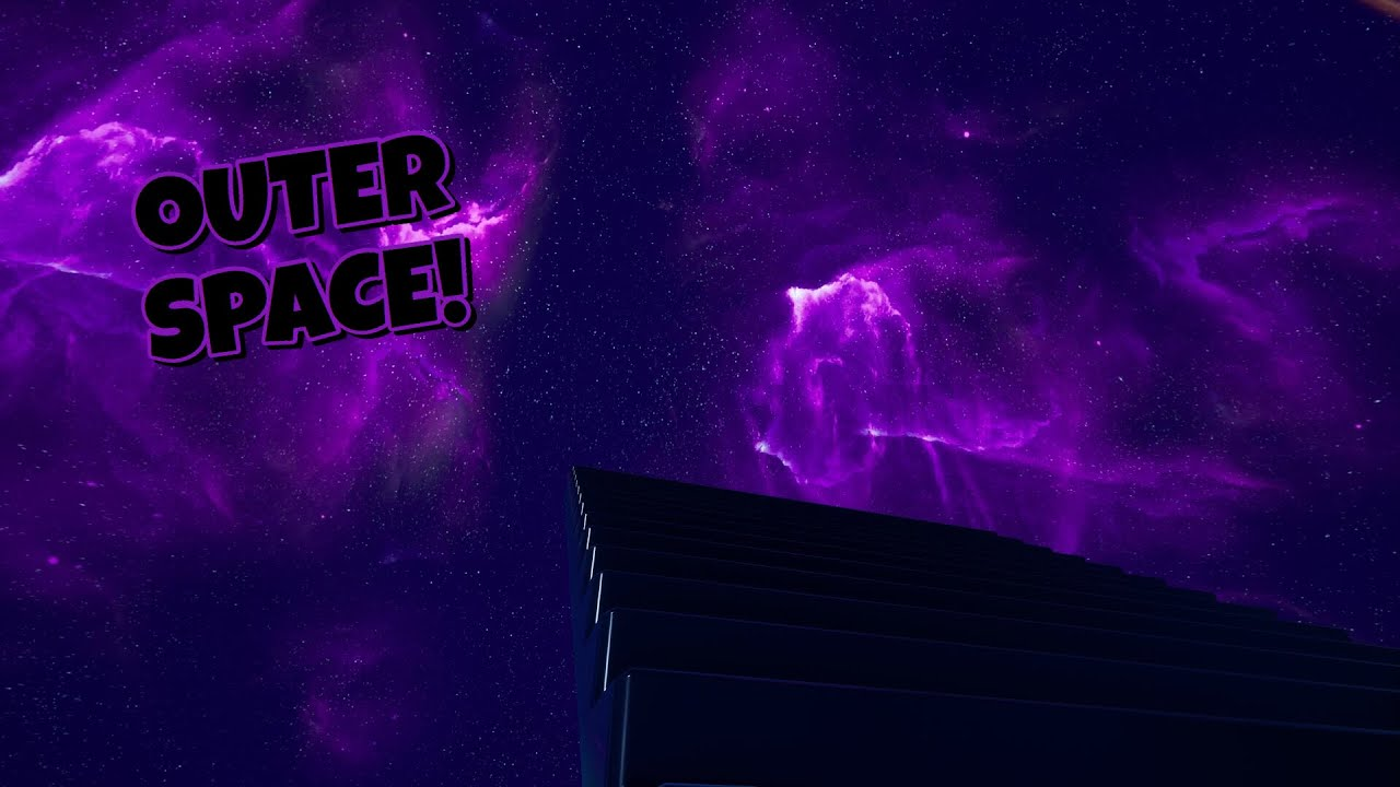 How To Make A Galaxy Outer Space Map Full Tutorial Fortnite Creative Youtube