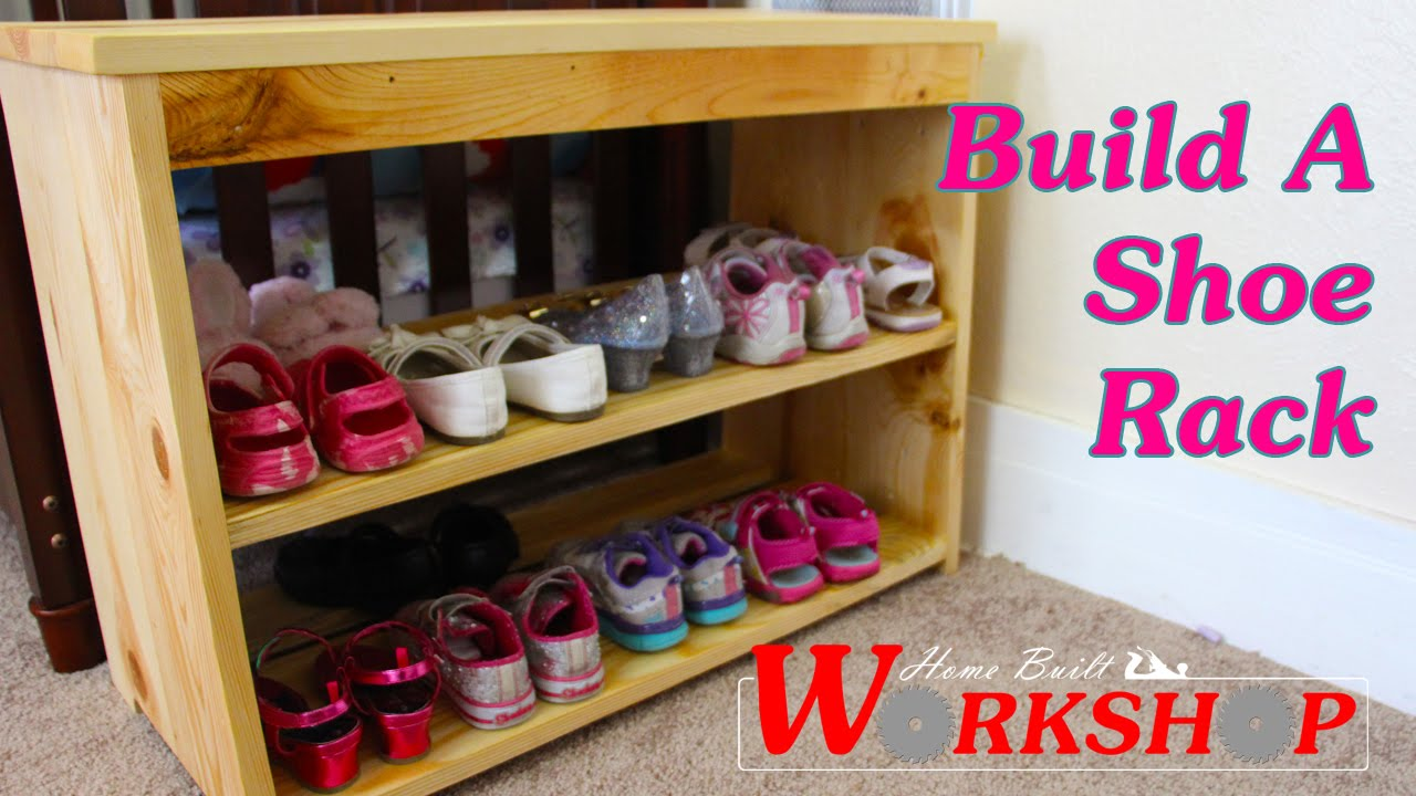 how to build a shoe rack youtube