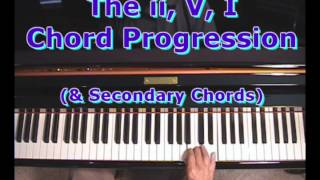the ii v i chord progession using secondary chords