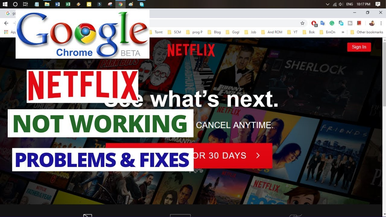 How to fix NETFLIX Not Working on Google Chrome 2018 | Common Netflix  Problems & Fixes