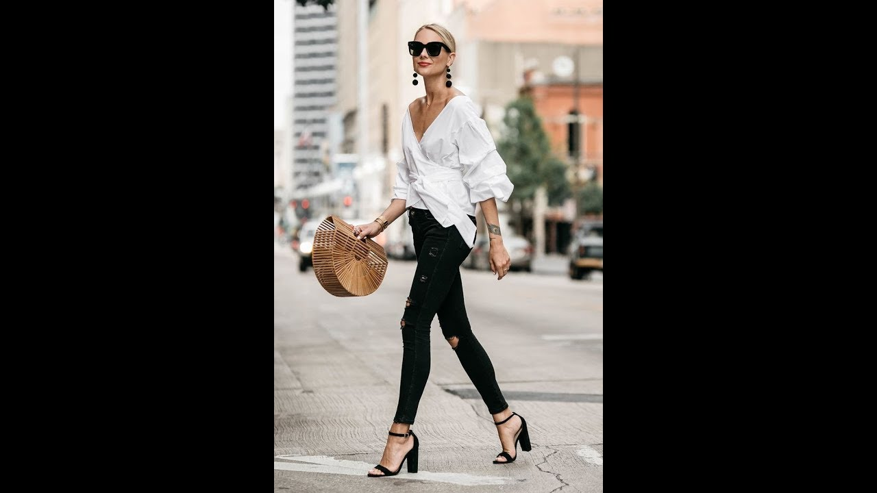 17af84e8ad27 How to wear black skinny jeans in summer - YouTube