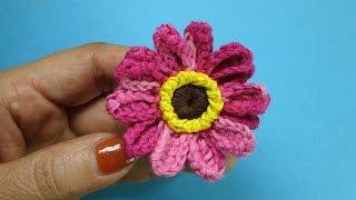Махровая ромашка Crochet chamomile вязаные цветы 85
