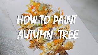 How to paint autumn tree | Как нарисовать #1 осеннее дерево(Вк: https://vk.com/yanazhukova Группа вк : https://vk.com/art_yana_zhukova Инстаграм: https://instagram.com/yyana_zhukova/, 2016-10-09T11:06:05.000Z)