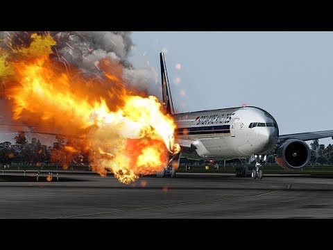 Dangerous Escape | Boeing 777 On Fire | Miracle in Singapore | Singapore Airlines Flight 368 | 4K