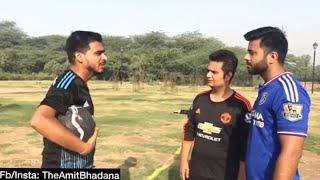 Amit Bhadan playing football