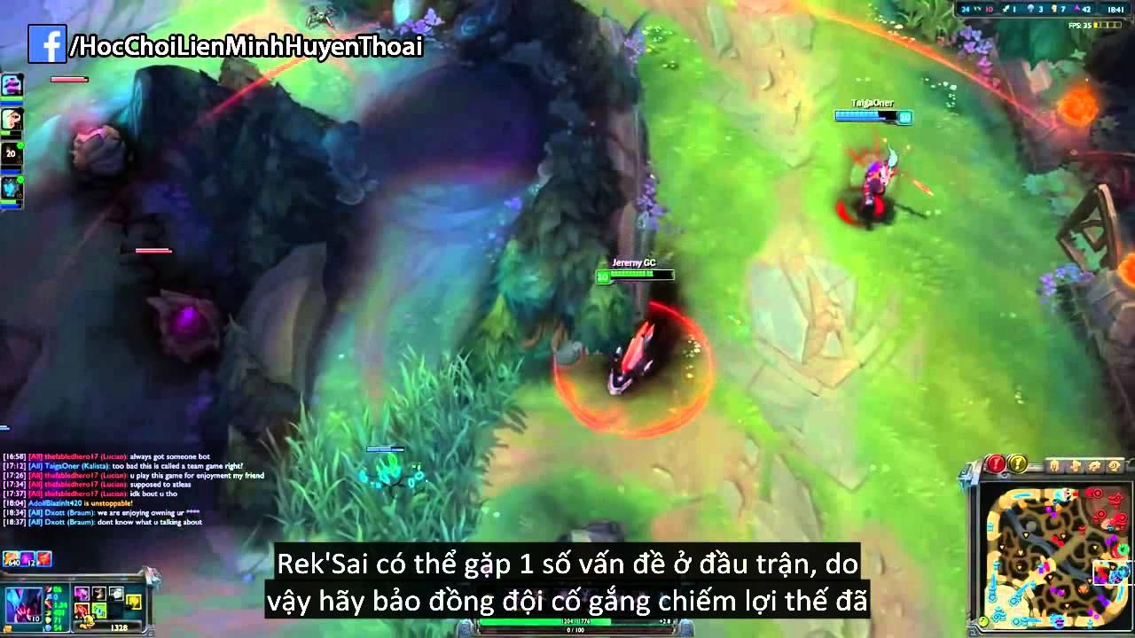LMHT : Phân tích lối chơi tướng đi rừng mới: Rek'Sai
