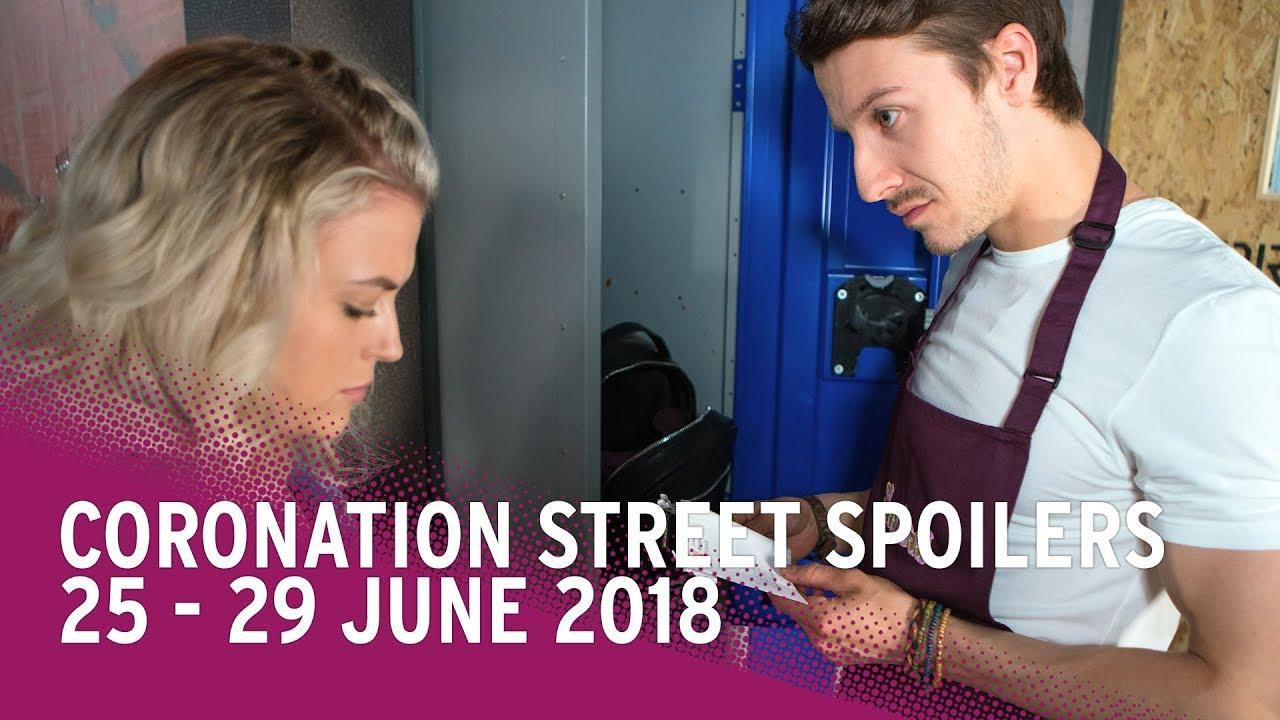 Coronation Street (Corrie) Spoilers: 25 - 29 June 2018