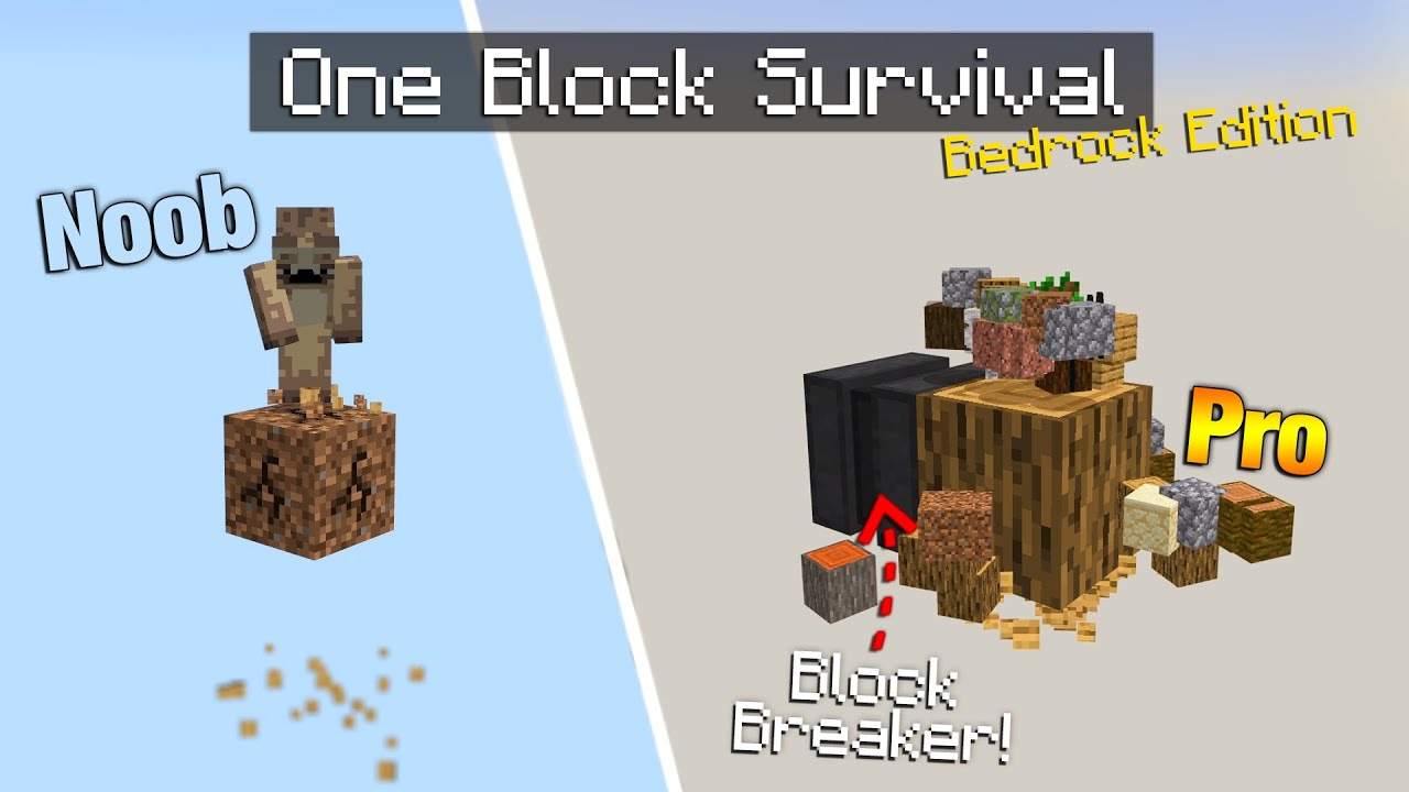 One Block Survival Has been Updated & its Awesome! [MCPE]