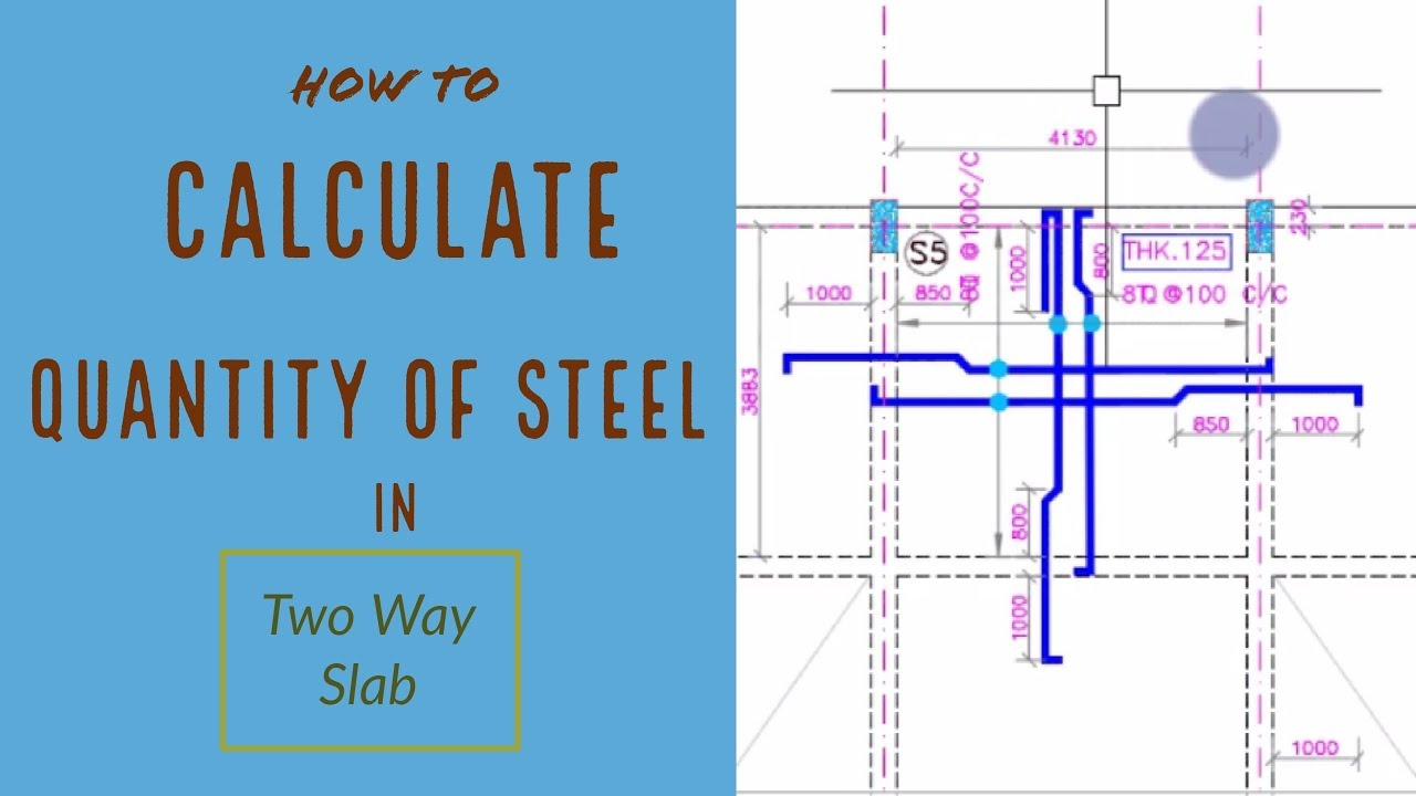 How To Calculate Quantity Of Steel In A Two Way Slab