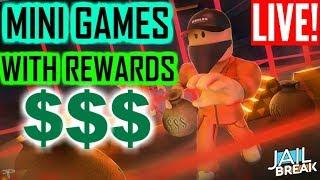 🔴MINI GAMES WITH REWARDS!!! (RobloX JAILBREAK)🔴
