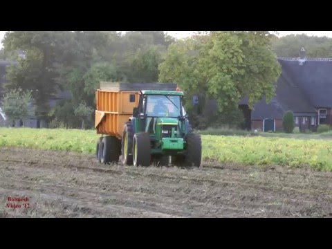 Harvesting Potatoes with Dewulf 3000 and John Deere.