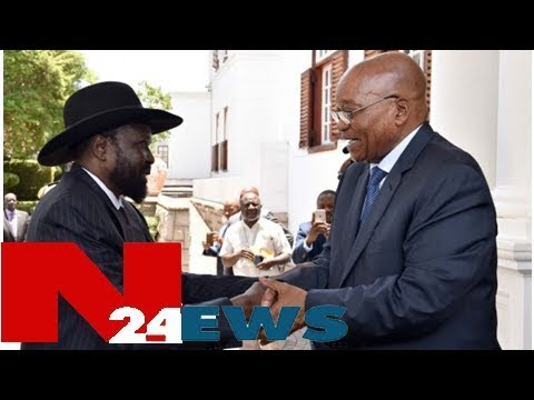 Zuma hosts south sudanese president, salva kiir