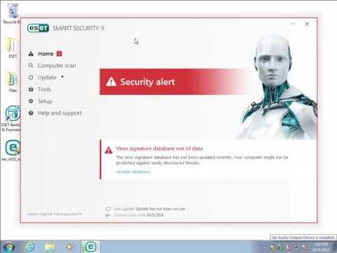 Activate ESET Smart Security or ESET NOD32 Antivirus using License Key 9 x   YouTube