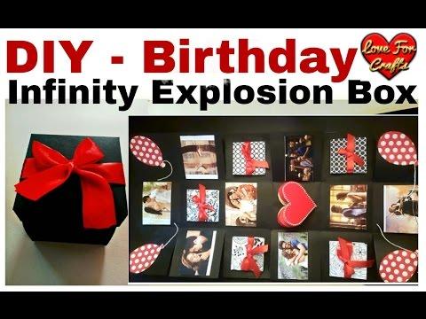 DIY Infinity Explosion Box For Birthday Birthday