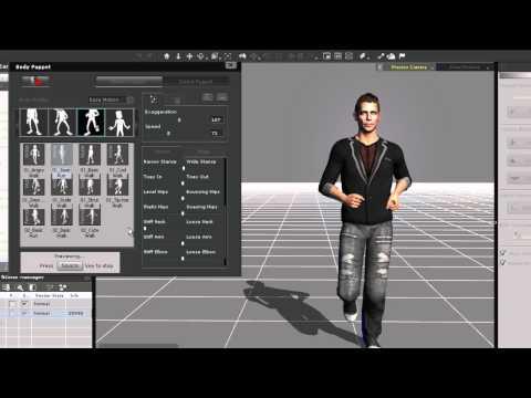 iClone5 Quick Fix Tutorial - Layering Animation Part 1