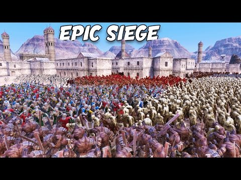 UEBS KING OF THE HILL!  Epic City Battle FFA Ultimate Epic Battle Simulator