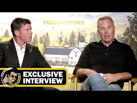 Kevin Costner and Taylor Sheridan YELLOWSTONE ! JoBlo.com Exclusive