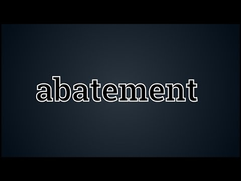 What Abatement Means