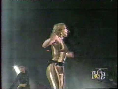 Britney Spears LIVE - OOPS, In Gold Spandex